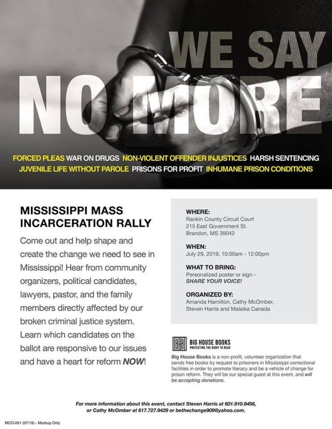mass incarceration rally